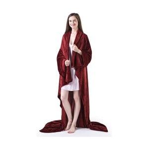 Vínovočervená televízna deka z mikrovlákna DecoKing Lazy, 180×150cm