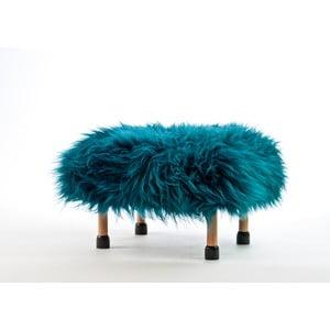 Stolička z ovčej kože Nia Teal