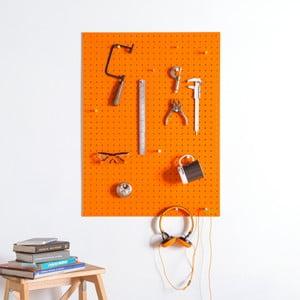 Multifunkčná nástenka Pegboard 61x81 cm, oranžová