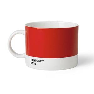 Červený hrnček na čaj Pantone 2053, 475 ml