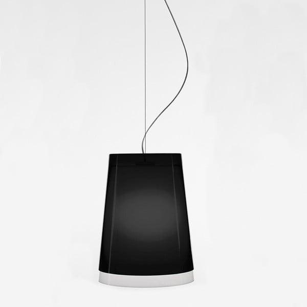 Čierne závesné svietidlo Pedrali L001S/AA