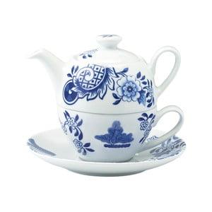 Porcelánová čajová kanvica so šálkou Willow Love Story