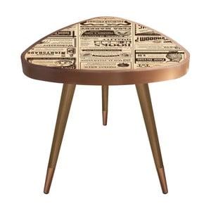 Príručný stolík Maresso Newspaper Triangle, 45 × 45 cm