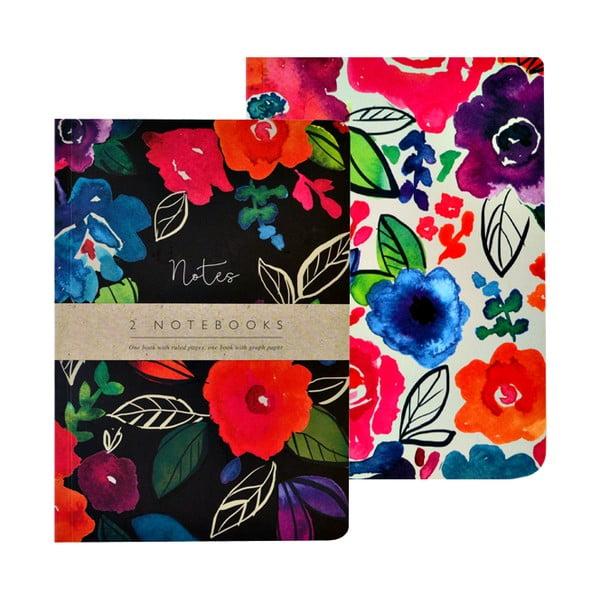 Sada 2 zápisníkov A5 Portico Designs Bold Floral, 100 stránok