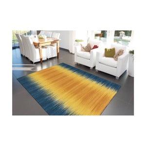 Modro-žltý ručne vyrábaný koberec Arte Espina Sunset 8070, 90 × 160 cm