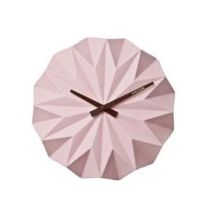 Ružové nástenné hodiny Karlsson Origami