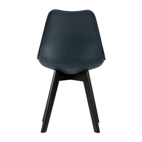 Sada 2 tmavomodrých stoličiek s nohami z borovicového dreva De Eekhoorn Stan