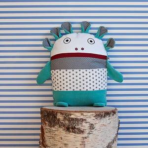 Tyrkysovo-sivý pyžamožrút Bartex, 35×30cm