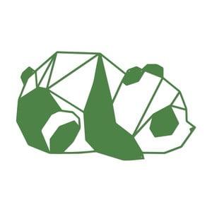 Zelená kovová nástenná dekorácia Wall Decor Panda