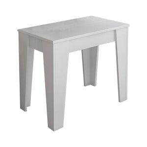 Biely drevený stôl s 6 prídavnými predĺženiami Tomasucci Charlie, 75×90×50 cm