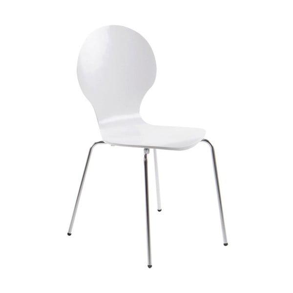 Biela jedálenská stolička Actona Marcus