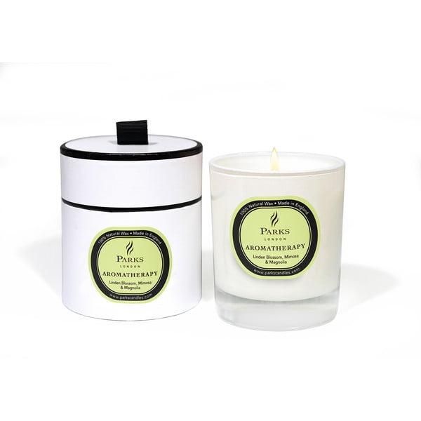 Sviečka s vôňou lipového kvetu, mimózy a magnólie Parks Candles London Aromatherapy, 50hodín horenia