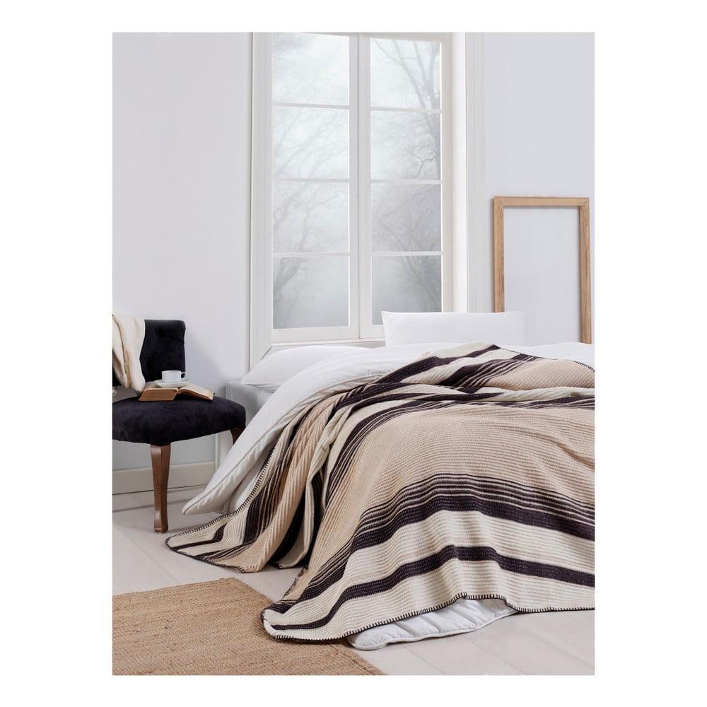 Hnedobéžová deka Puro Lessno, 180 x 220 cm