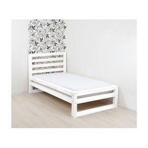 Biela drevená jednolôžková posteľ Benlemi DeLuxe, 200 × 90 cm