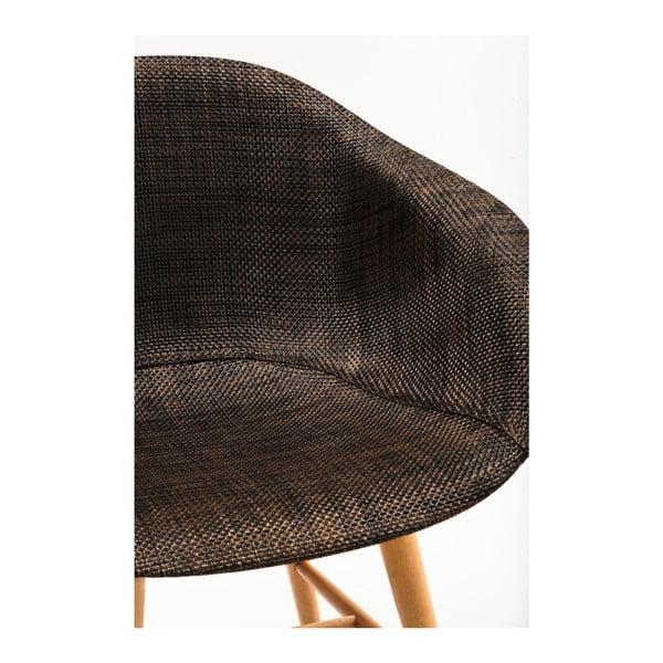 Sada 4 hnedých jedálenských stoličiek Kare Design Forum Armrest