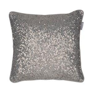 Hnedý vankúš Walra Glitter, 45×45 cm