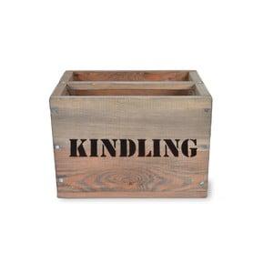 Škatuľka na triesky zo smrekového dreva Garden Trading Kindling, 28 × 28 cm