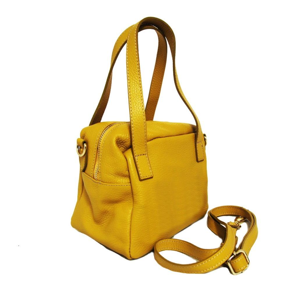 Žltá kožená kabelka Luciano Calboni Giada ... d612ed42451