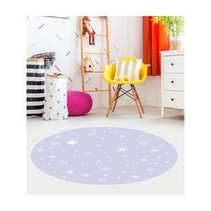 Modrý detský koberec Floorart Stars, ⌀ 150 cm