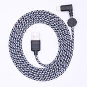 Nabíjací kábel Lightning pre iPhone 5 a iPhone 6 Wooky Concrete, 1,8 m