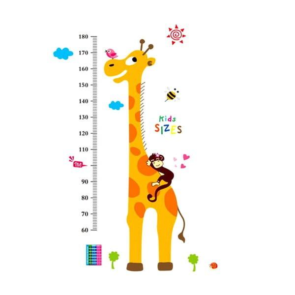 Dekoratívna samolepka Meter Giraffe