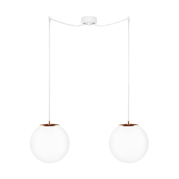 Dvojité svetlo Tsuki M Elementary opal matte/copper/white/white
