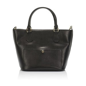 Čierna kožená kabelka Giulia Massari Ancona