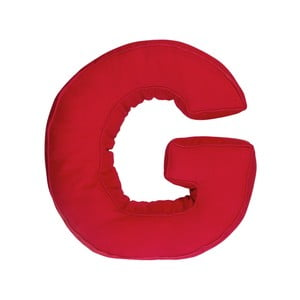 Látkový vankúš G, červený