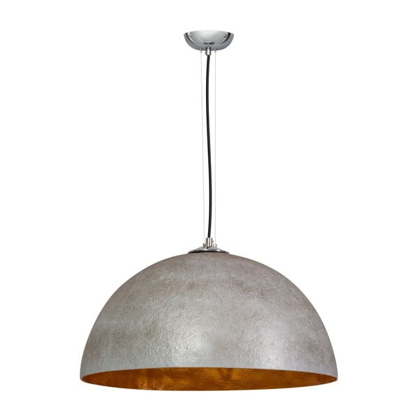 Sivo-medené stropné svietidlo ETH Mezzo Tondo Kyle, ⌀50cm