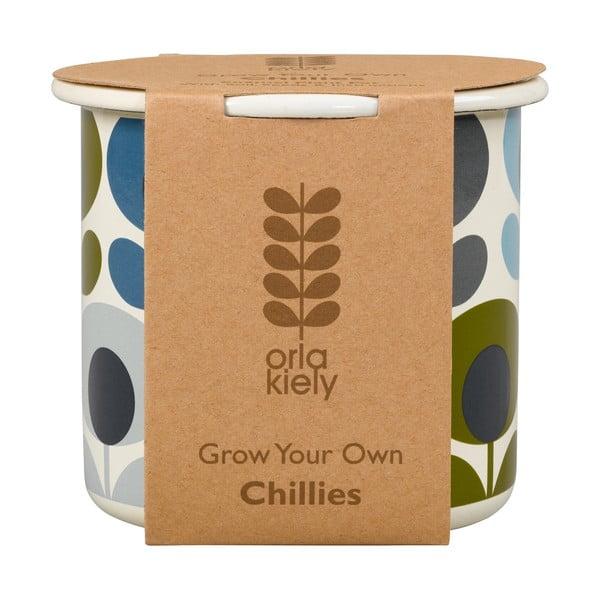Sada kvetináča so semienkami chilli Orla Kiely Grow Your Ow