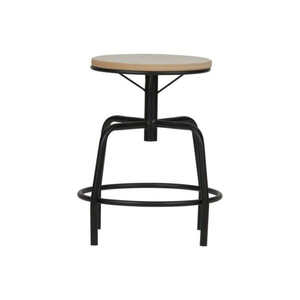 Čierno-biela kovová stolička WOOOD