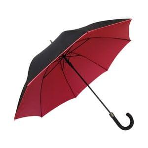 Červeno-čierny dáždnik Ambiance Susino Noir Rouge