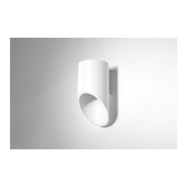 Biele nástenné svetlo Nice Lamps Nixon, dĺžka 20 cm