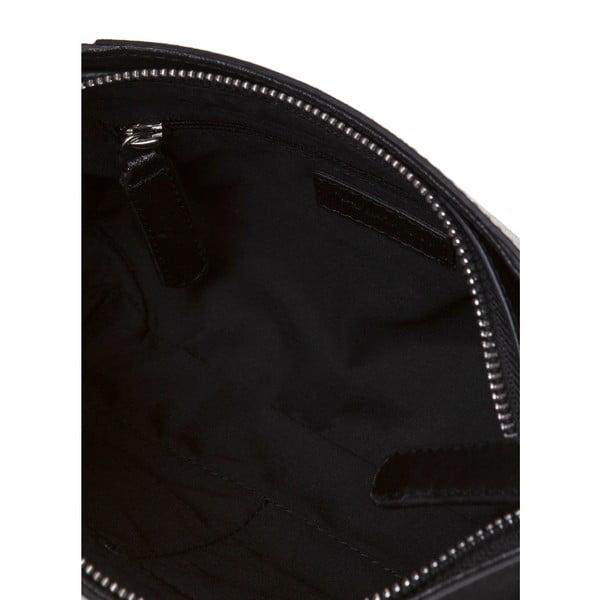 Kožená kabelka s dlhým popruhom Marta Ponti Strada, čierna