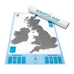 Zoškrabávacia mapa Luckies of London Britské ostrovy