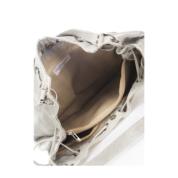 Sivá kožená kabelka Lisa Minardi Divisa
