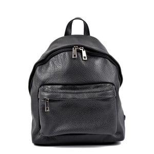Čierny kožený batoh Roberta M Kravna