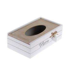 Drevený úložný box na vreckovky Dakls Rusto Retto