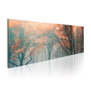Obraz na plátne Artgeist Autumn Waterfall, 120x40cm