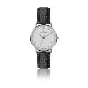 Pánske hodinky s čiernym remienkom z pravej kože Frederic Graff Silver Dent Blanche Croco Black Leather