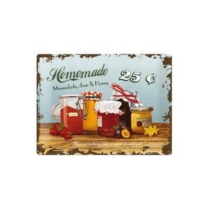 Plechová ceduľa Homemade, 30x40 cm