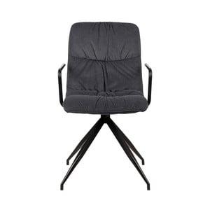 Antracitovosivá jedálenská stolička s opierkami LABEL51 Spike