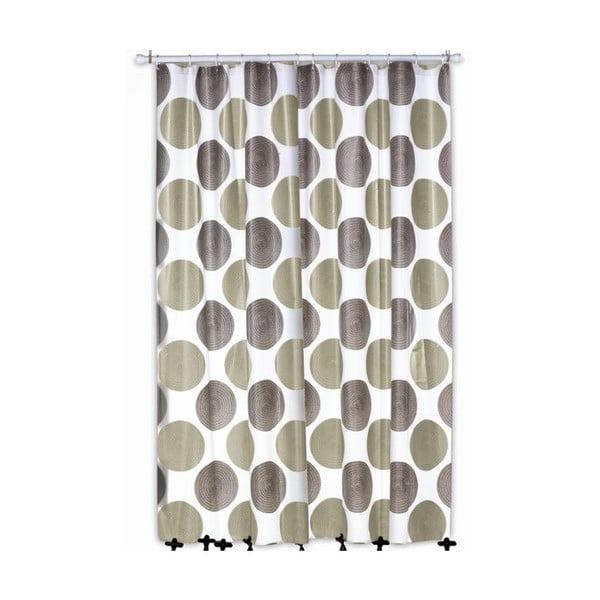 Sprchový záves Lamara Peva, sivý/béžový, 180x200 cm