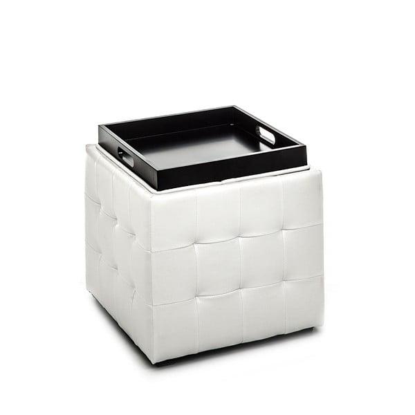 Biely puf s úložným priestorom Tomasucci Case