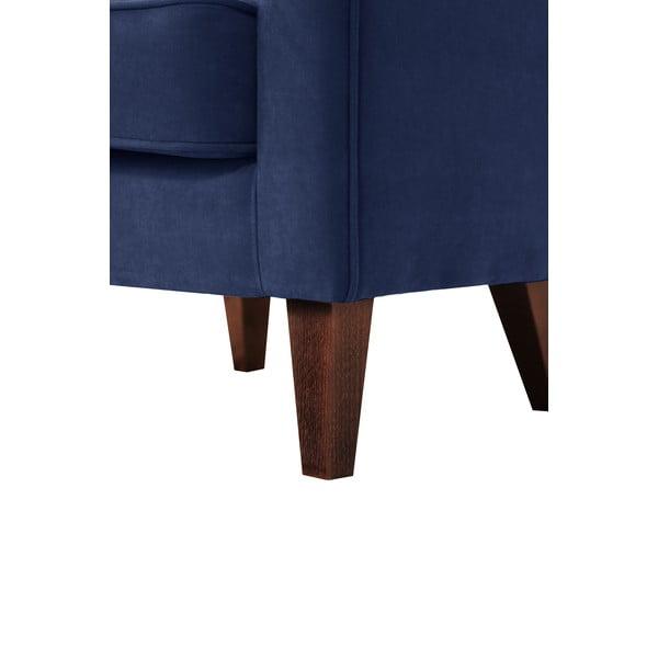 Kreslo Jalouse Maison Kylie, námornícka modrá