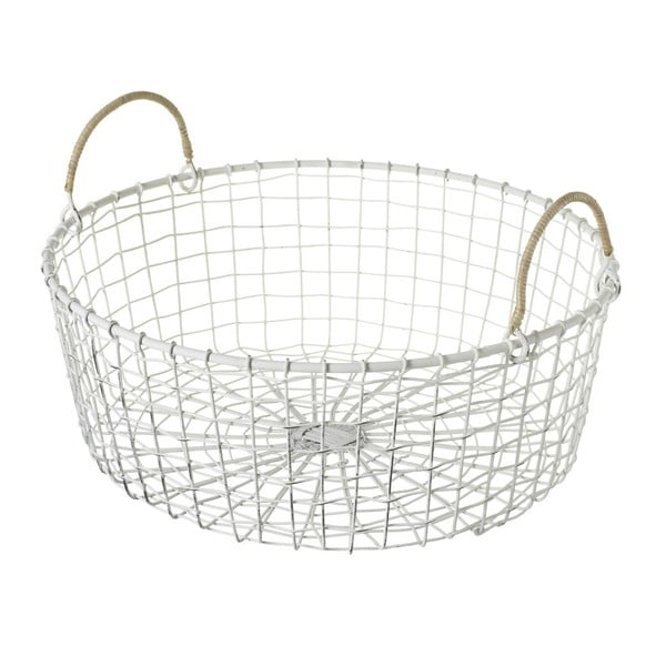 Košík Wire White