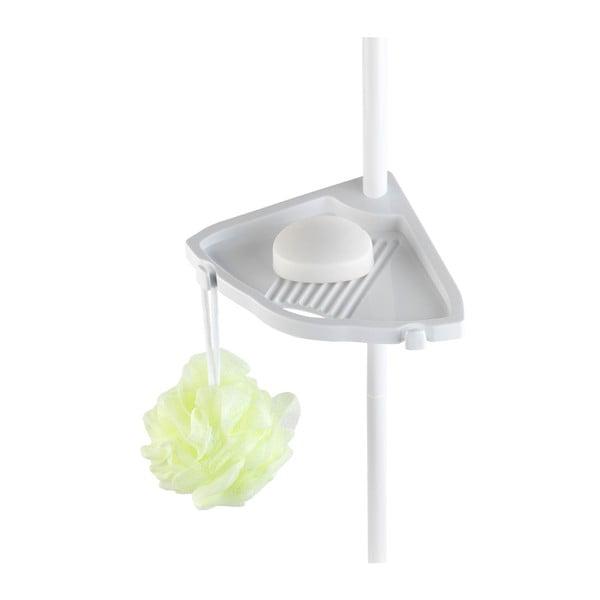 Biela teleskopická nástenná polička do kúpeľne Wenko Easy