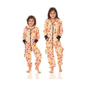 Oranžový detský domáci overal Streetfly, pre deti 2-3 roky