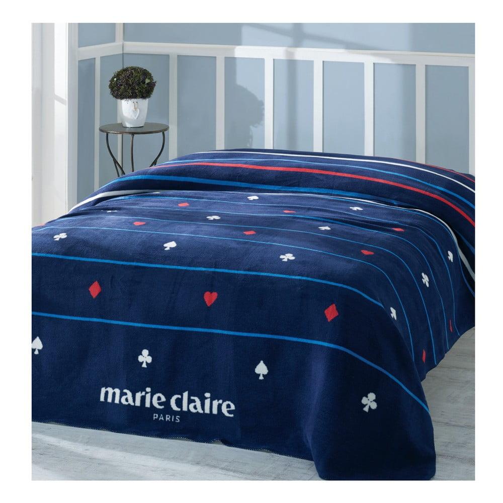 Modrá deka Marie Claire, 150 × 200 cm