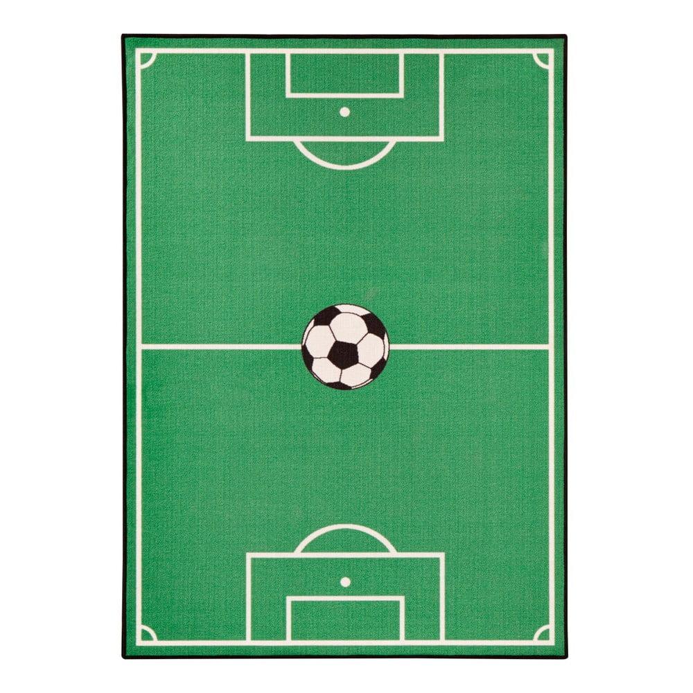 Detský zelený koberec Zala Living Football, 160 × 240 cm